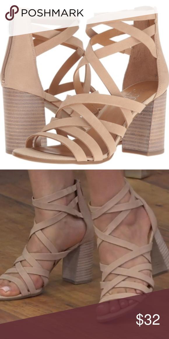96f1bf178 NWOT Franco Sarto Madrid Strappy Heeled Sandals Will post original photos  soon  ORIGINAL BOX NOT