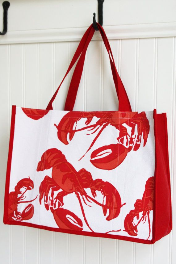 2ee7a9360601 Lobster Tote Bag - Marketing Bag - Cape Cod - Maine - New England - Beach  Bag - Red Lobster