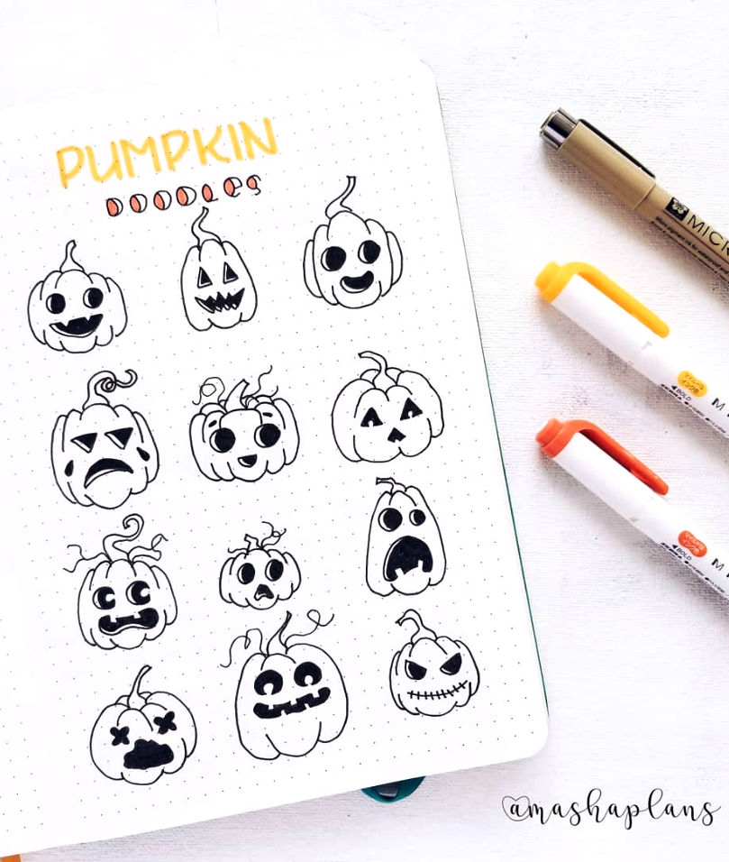 Cool Pumpkin Doodles