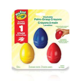 Crayola My First Washable Egg Crayons-6//PK 81-1451