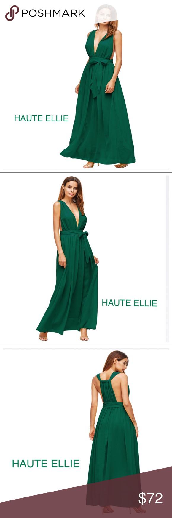 green envy deep vneck halter dress green envy deep vneck