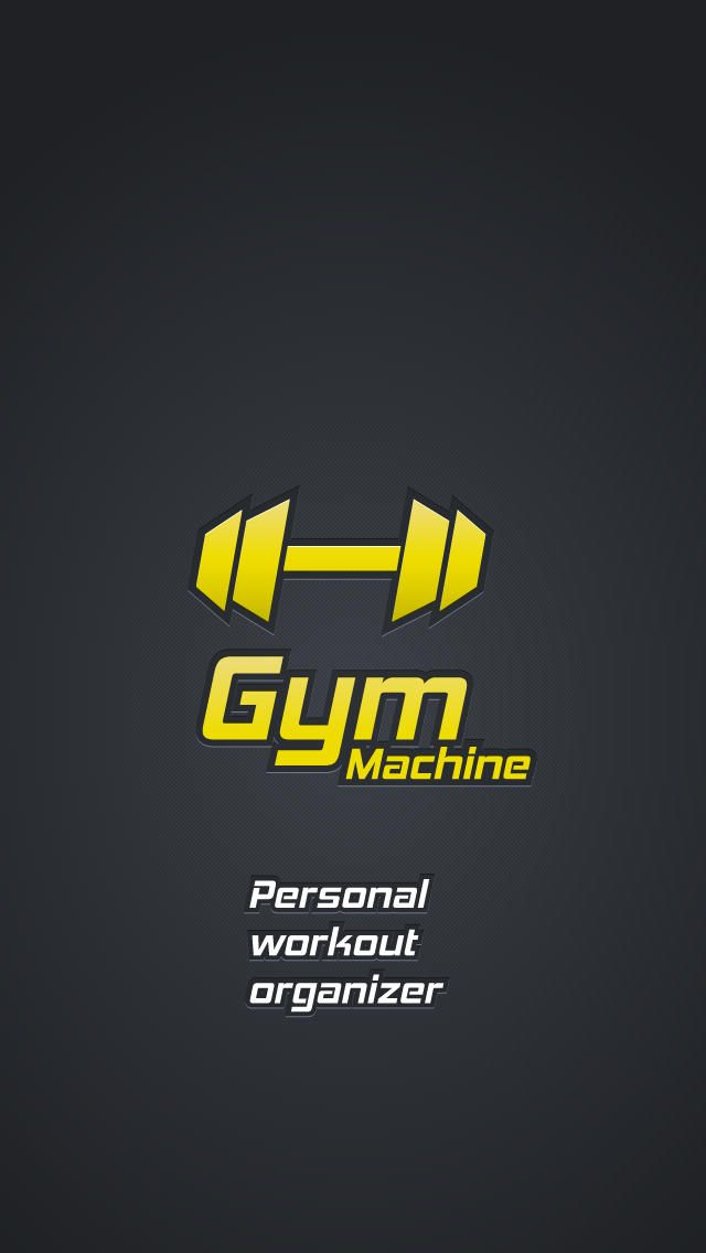 iPhone App Gym Machine Personal Workout Organizer