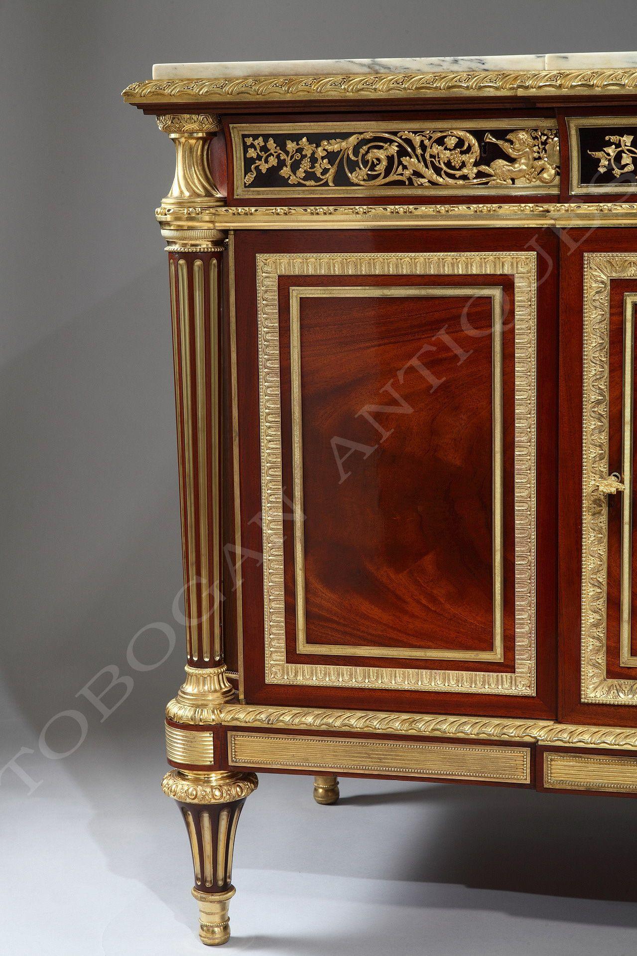 C1870 Krieger Importante Commode France Circa 1870 Haut 92 Cm Larg 147 Cm Prof 58 Cm Mobilier De France Porcelaine De Sevres Musee Des Arts Decoratifs