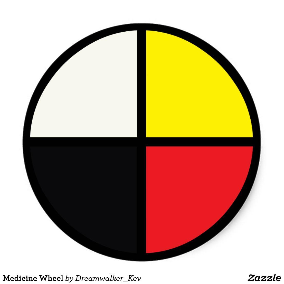 Medicine Wheel Classic Round Sticker