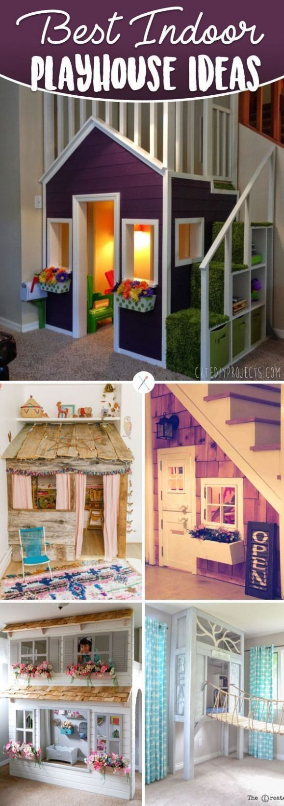 Photo of 20 Indoor Playhouse Ideas for a Small World for Your Kids #buildpl … -,  #buildpl #ideas #I…
