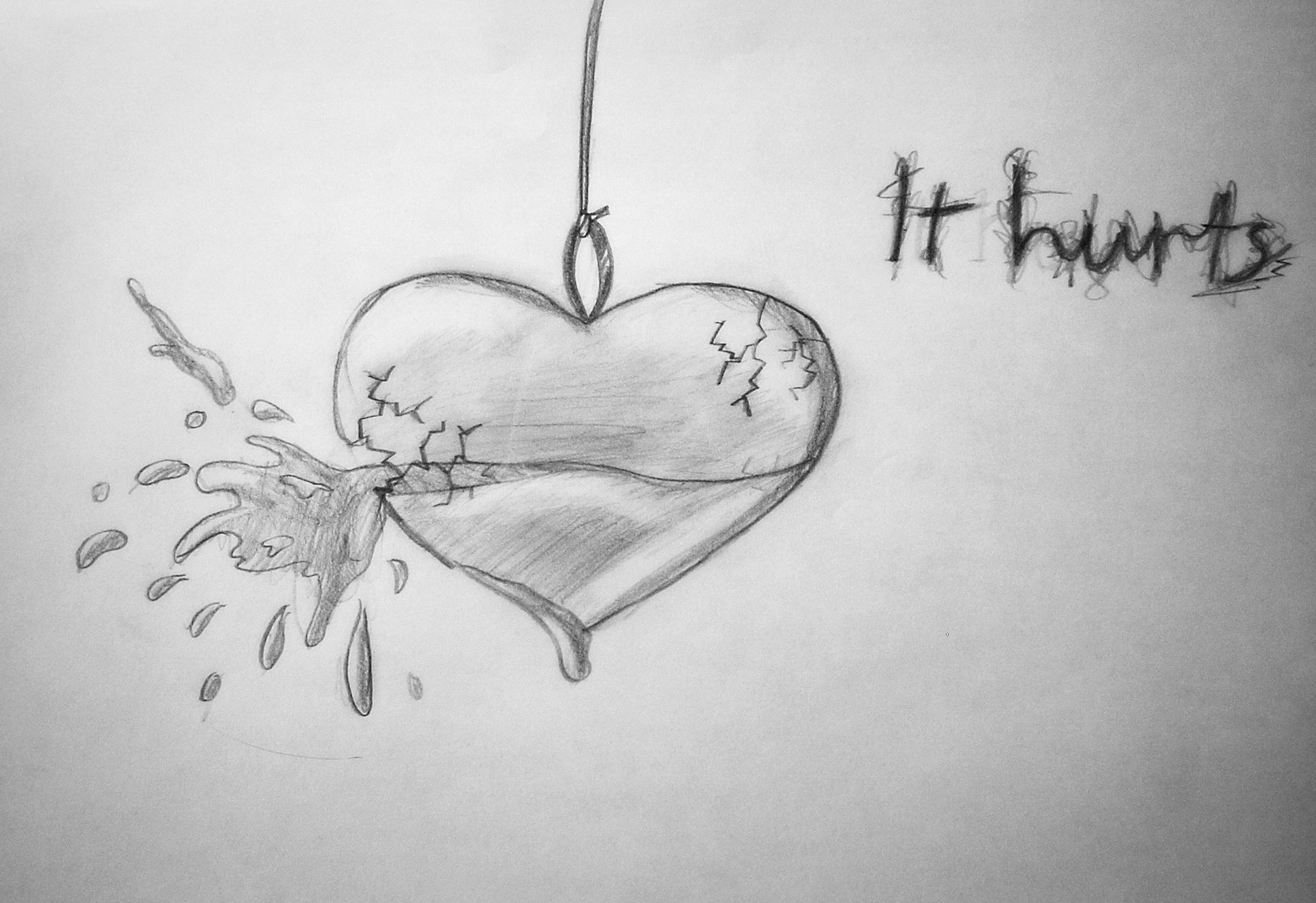 broken girl drawing - Google Search | Broken heart ...
