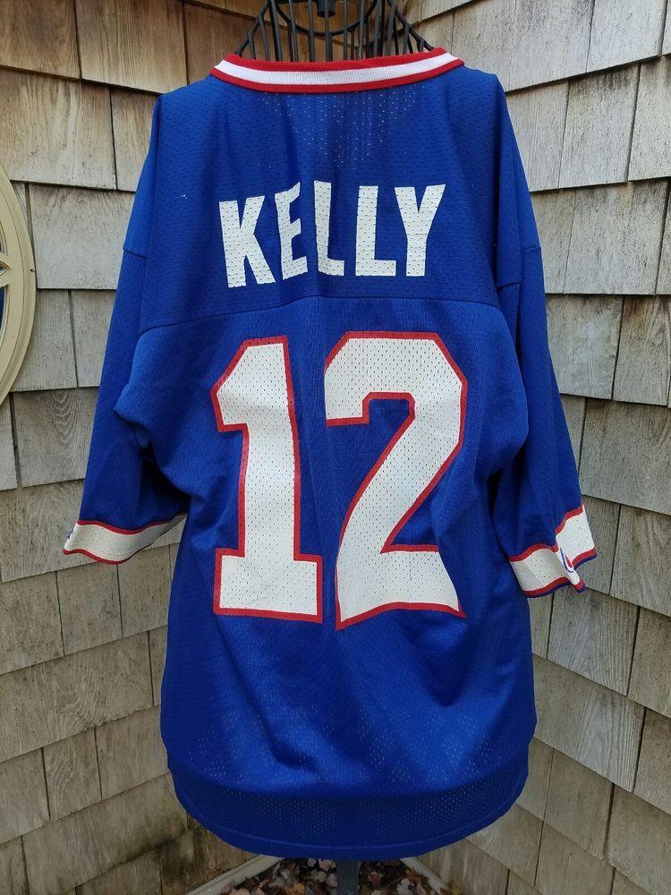big sale 8986c e806e Details about 1980s Buffalo Bills Jim Kelly white mesh ...