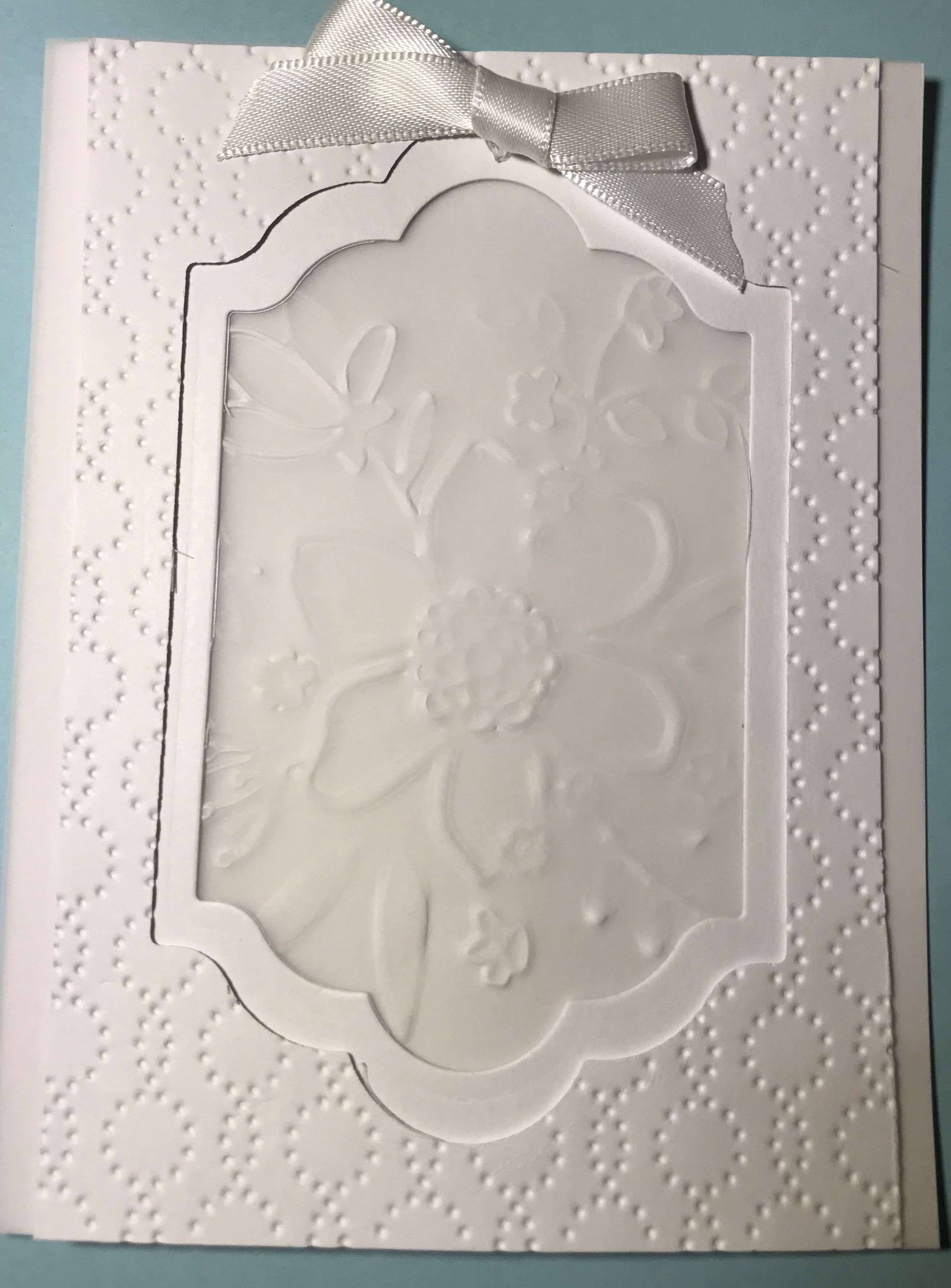 July White Folder Embossed Su Lovely Floral And Retired Folder And
