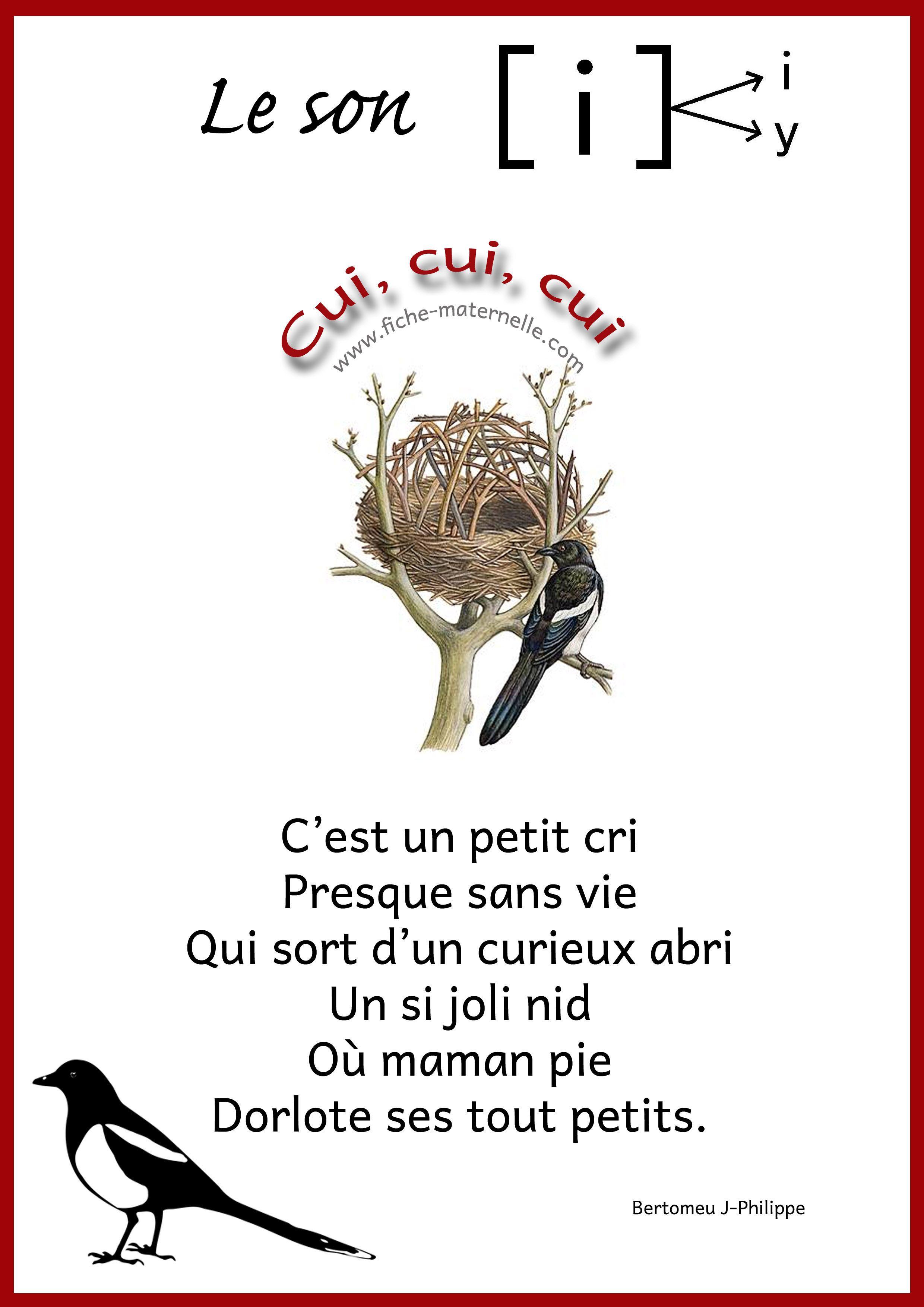 Bekannt poesie sur le son i Les sons à la maternelle | École | Pinterest  JF37