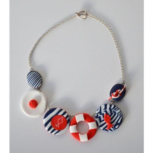 diy #idee #cadeau fête des mères : #collier #fimo : http://www
