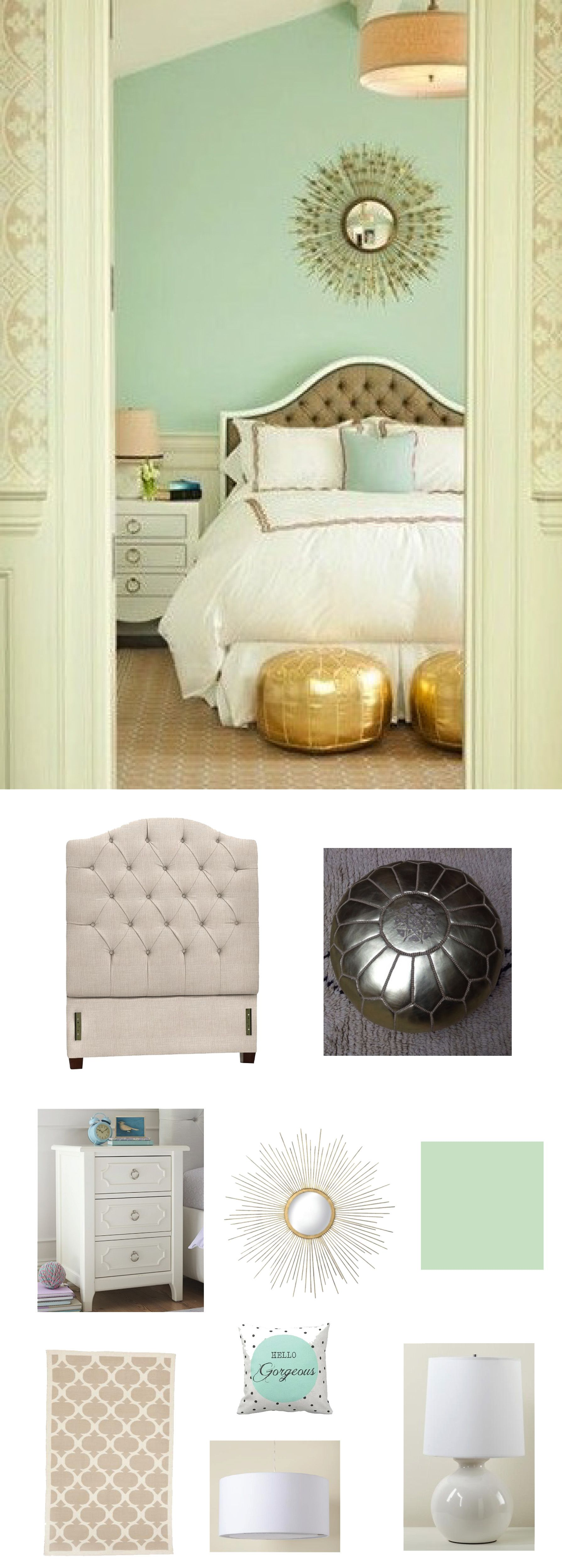 Mint edition guest rooms gold bedroom decor and bedroom for Room 422 decor
