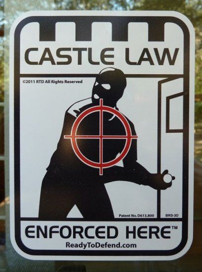 Brs 3d 3 Pack Castle Law Enforced Here Decals Home Security