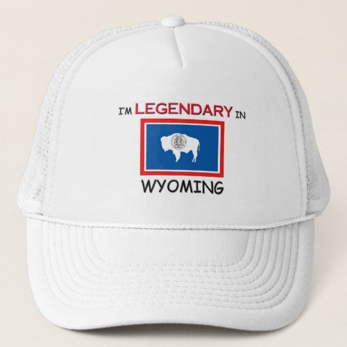 I'd Rather Be In WYOMING Trucker Hat | Zazzle com in 2019
