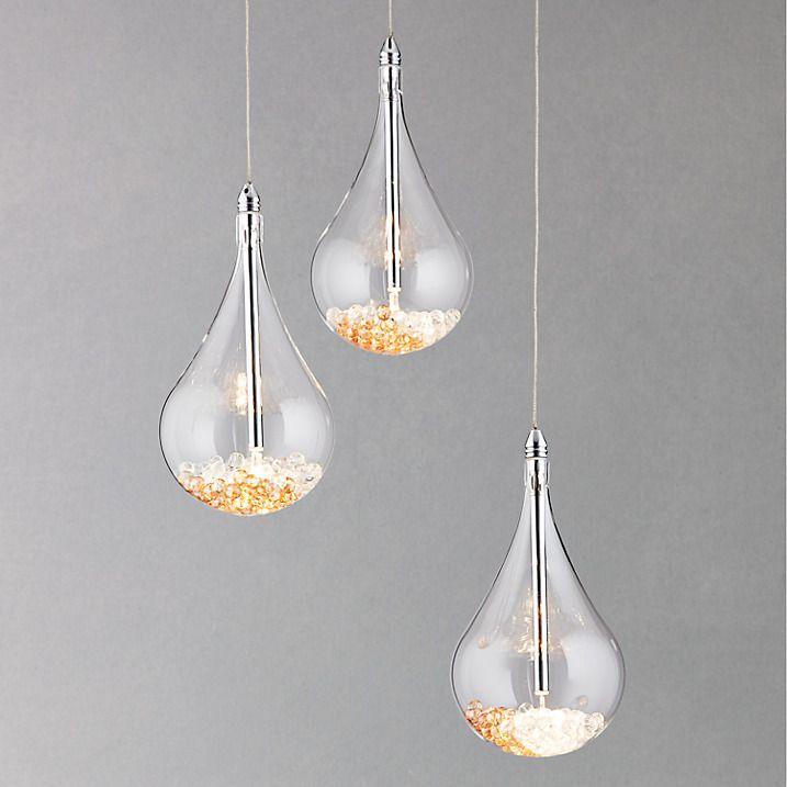 John Lewis Amp Partners Sebastian 3 Light Drop Ceiling Light Crystal With Images Ceiling
