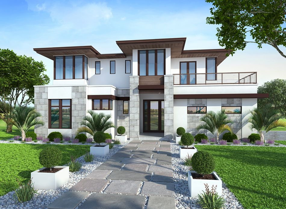 Plan 429042 4 Bedroom 5 Bath 3 Car Garage Contemporary House Plan Offered By Distinctive