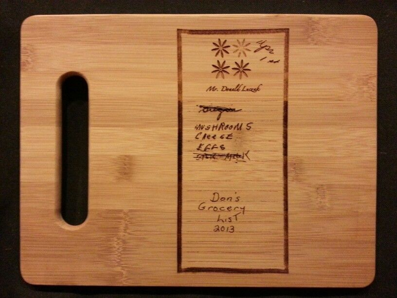 Custom engraved cutting board for Robin from 3dcarving on Etsy