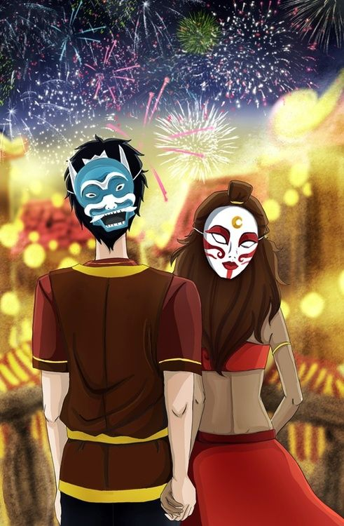 Zutara. OMGOD ZUKO AND KATARA <- I don't ship it but its super cute<<<well this picture is