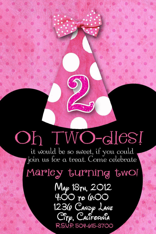 Start Potty Training Minnie Mouse Birthday Invitations Minnie Mouse Invitations 2nd Birthday Invitations