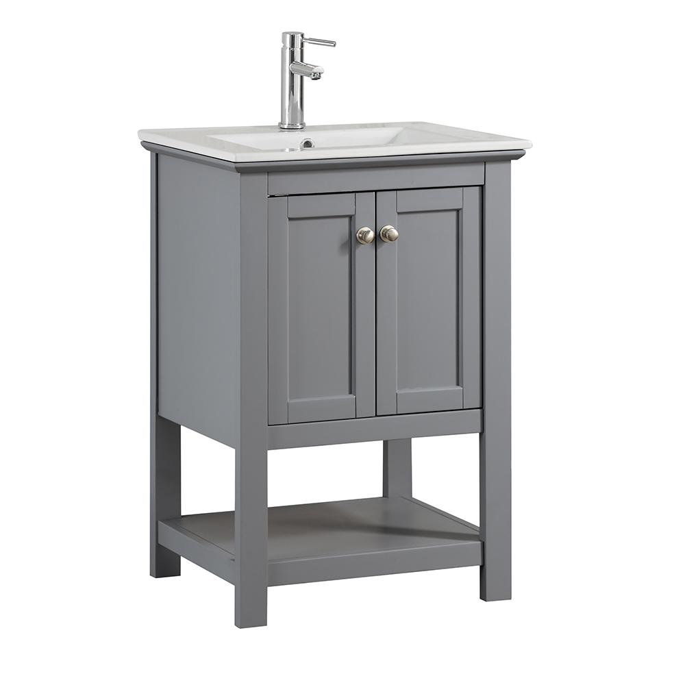 Fresca Bradford 24 In W Traditional Bathroom Vanity In Gray With Ceramic Vanity Top In White With White Basin Fvnhd0104gr Cmb The Home Depot Traditional Bathroom Traditional Bathroom Vanity Single Bathroom Vanity [ 1000 x 1000 Pixel ]