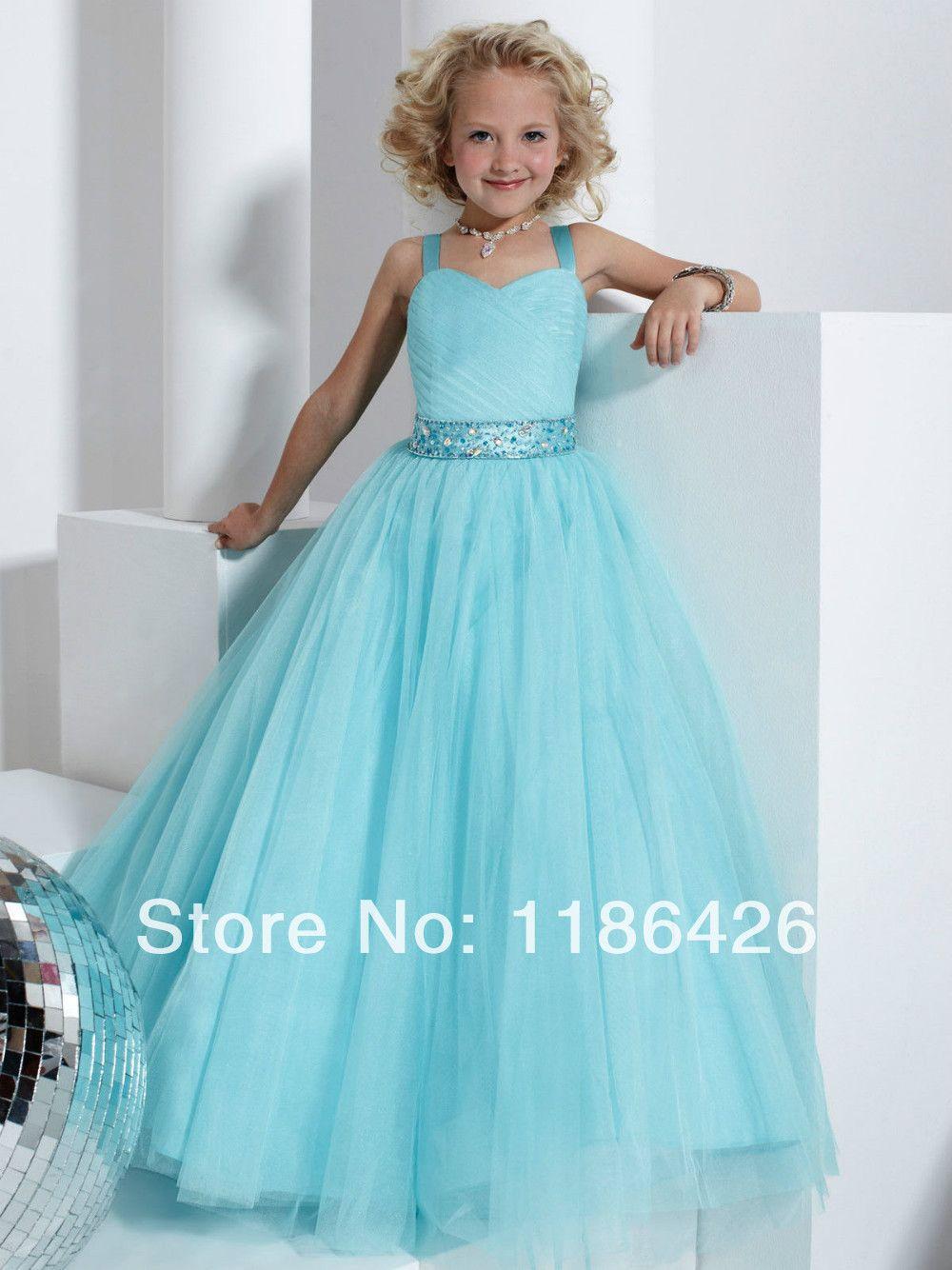 Find More Flower Girl Dresses Information about Marine Blue Flower ...