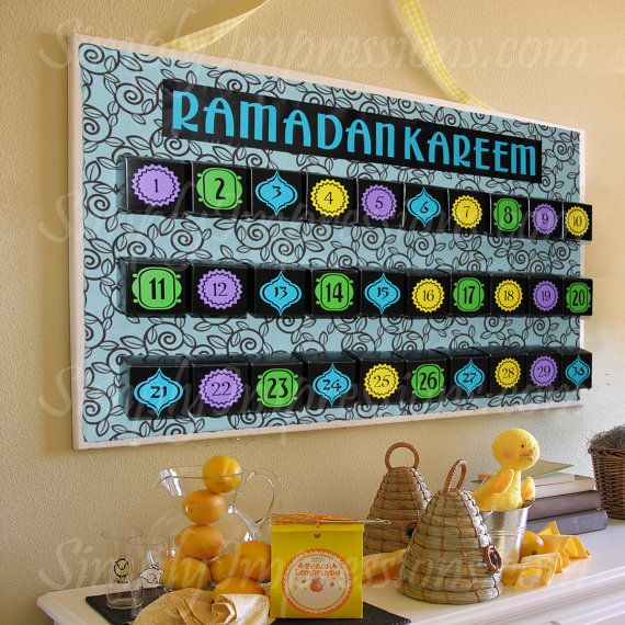 will totally do a Ramadan advent calendar with my kids one day--  Count Down Treat Boxes by simplyimpressions on Etsy