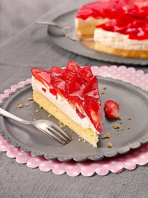 Erdbeerkuchen mit Vanillecreme | Recipe | Backen ...