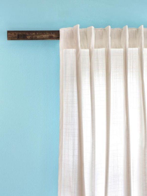 Remodelaholic 25 Creative Diy Curtain Rod Tutorials Curtains Without Nails Diy Curtain Rods Diy Curtains