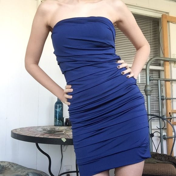 Navy Bodycon Party Dress Never Worn Dress Purchased From Kohls