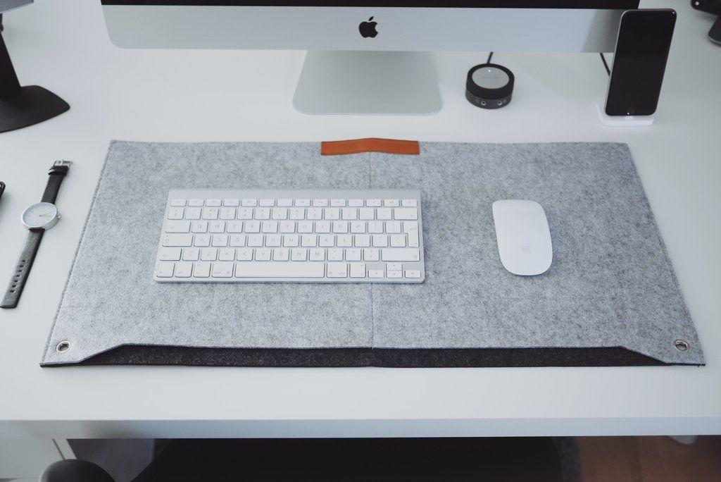 Felt Desk Mat Grey Minimalist Desk Desk Mat Grey Desk