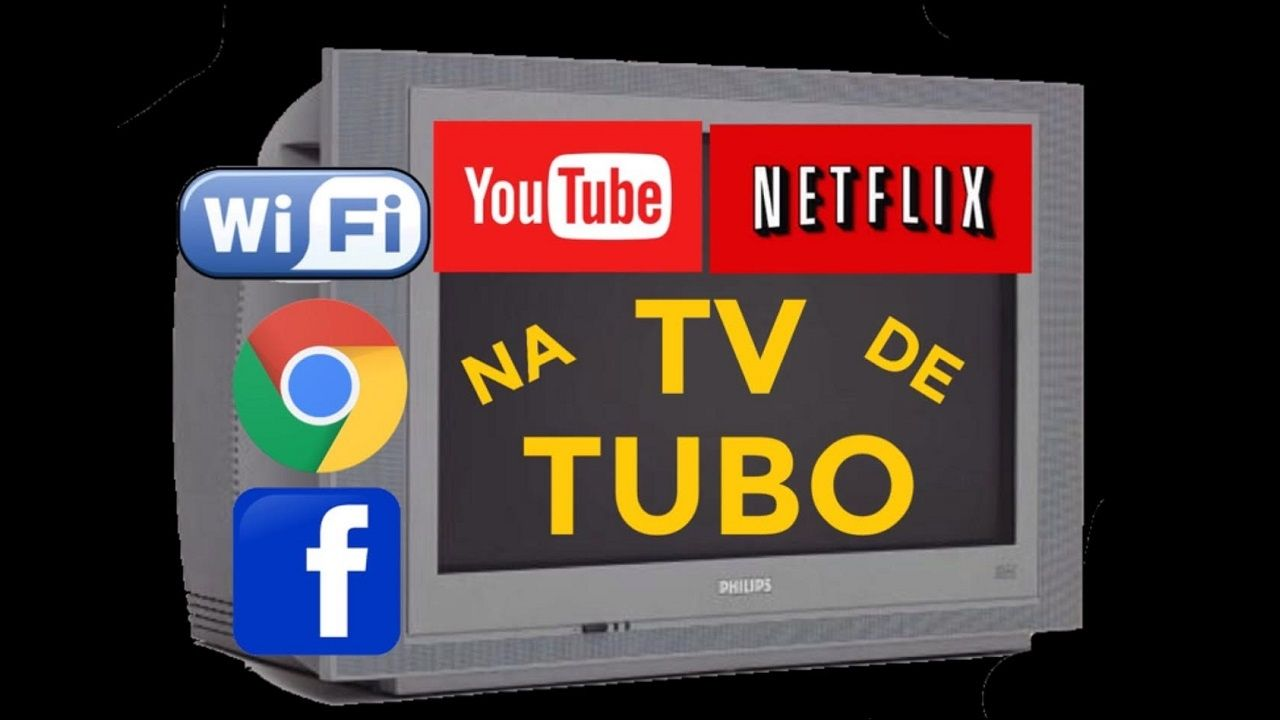 NETFLIX NA TV ANTIGA YOUTUBE E INTERNET NA TELEVISÃO DE TUBO