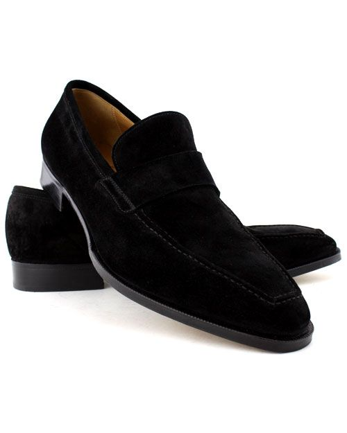 Gravati Black Suede Venetian Loafer Suede Venetian loafer with blind keeper  and raised stitch toe Blake construction Last 655 All leather sole Made in  Italy ...