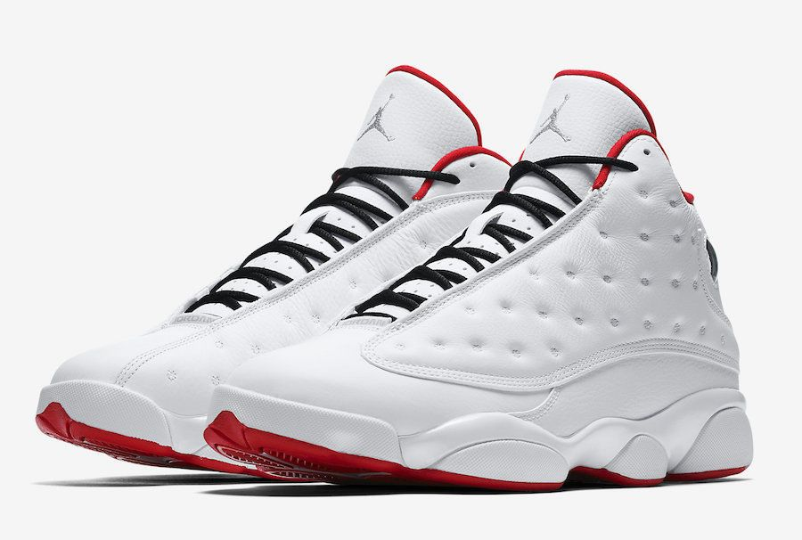 2c55afb263aeb4 Nike Air Jordan Retro 13 XIII History Of Flight Size 9C-18 White Red  414571-103