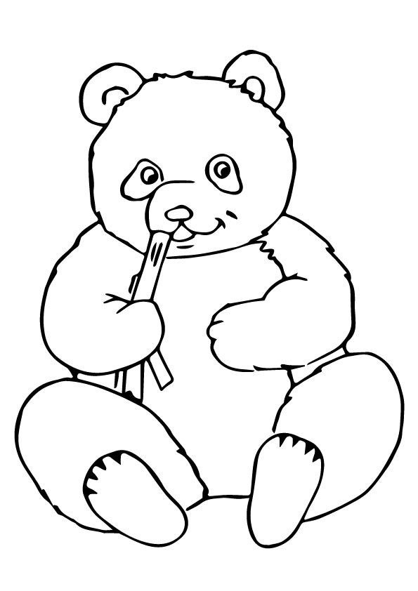Coloring Page Of A Panda Bear