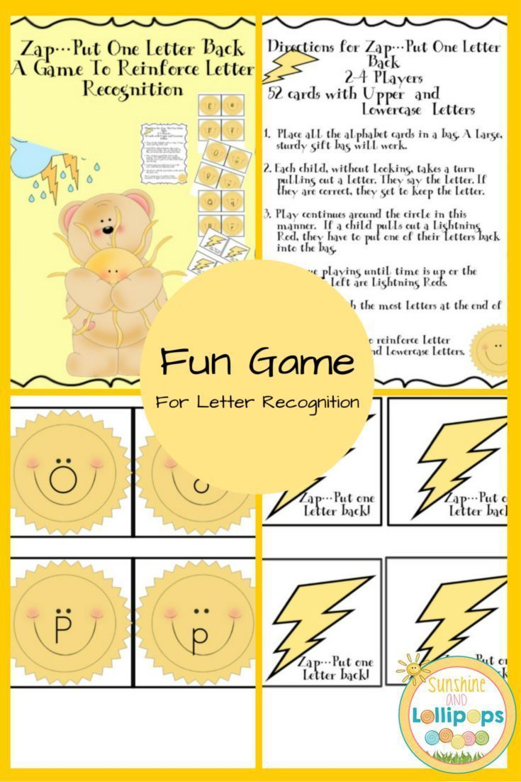 Alphabet Letter Recognition Zap Put One Letter Back Game  Letter