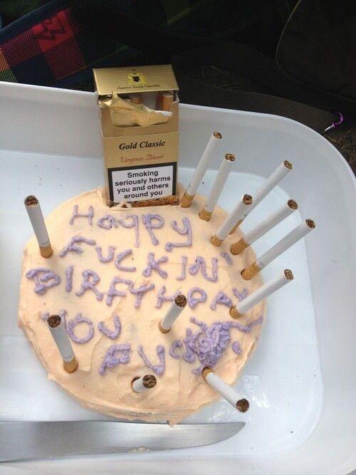 Image result for rubbish cake cigarette