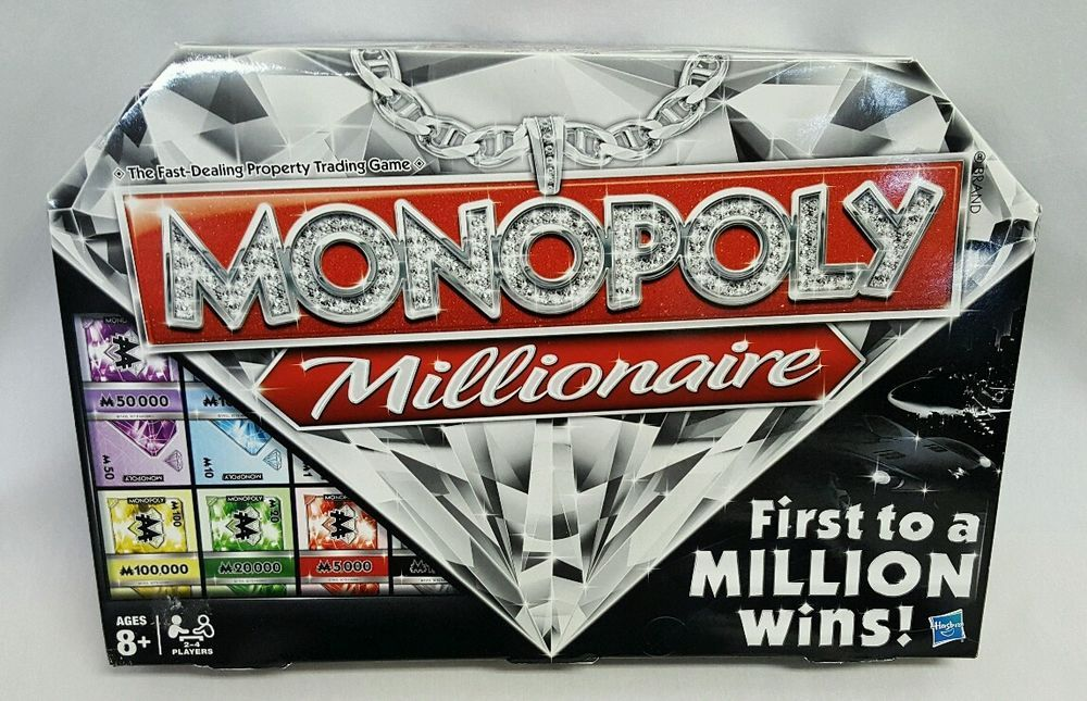 Monopoly Millionaire Board Game, 100 Complete, Mint