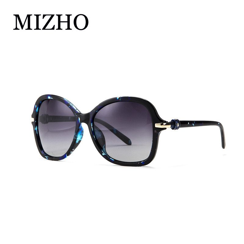 fcad3de3e86 Fashion BLUE Pattern Gradient Polarized Sunglasses Women Brand Designer  With BOX High Quality Anti Glare Polaroid Ladies Luxury