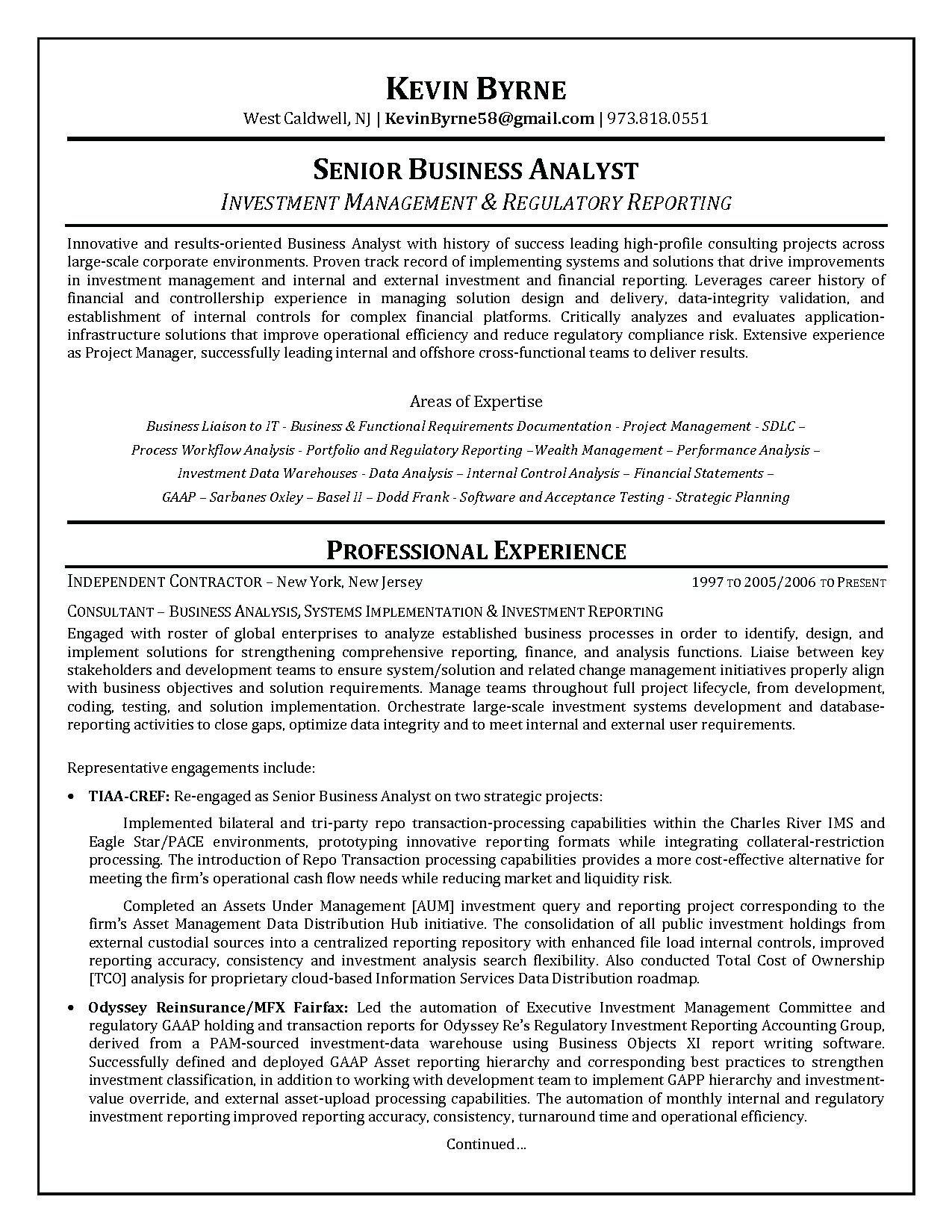 Business analyst resume summary beautiful market research