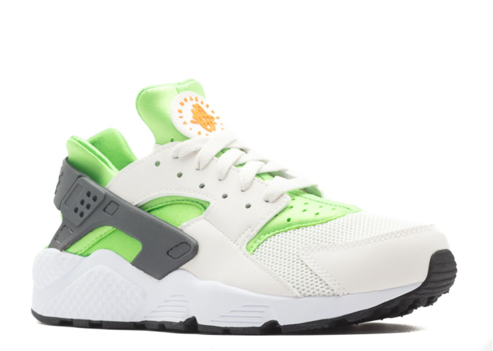 472b27fbfa59 Outlet Nike Air Huarache Actn Green Vvd Orng Phntm Wht Trainers UK Sellers