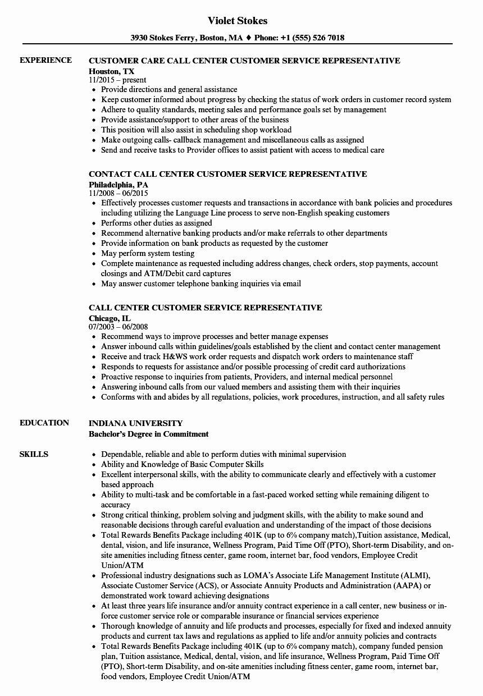 Call center jobs description resume inspirational call