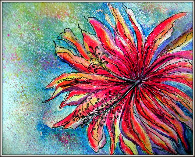 mixed media flowers - Google Search