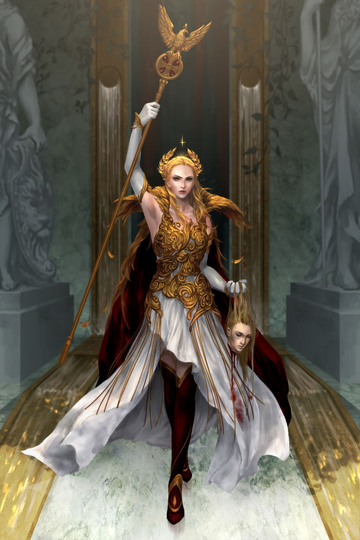 Virginia Au Augustus By Gracezhu Red Rising Fantasy Women Red