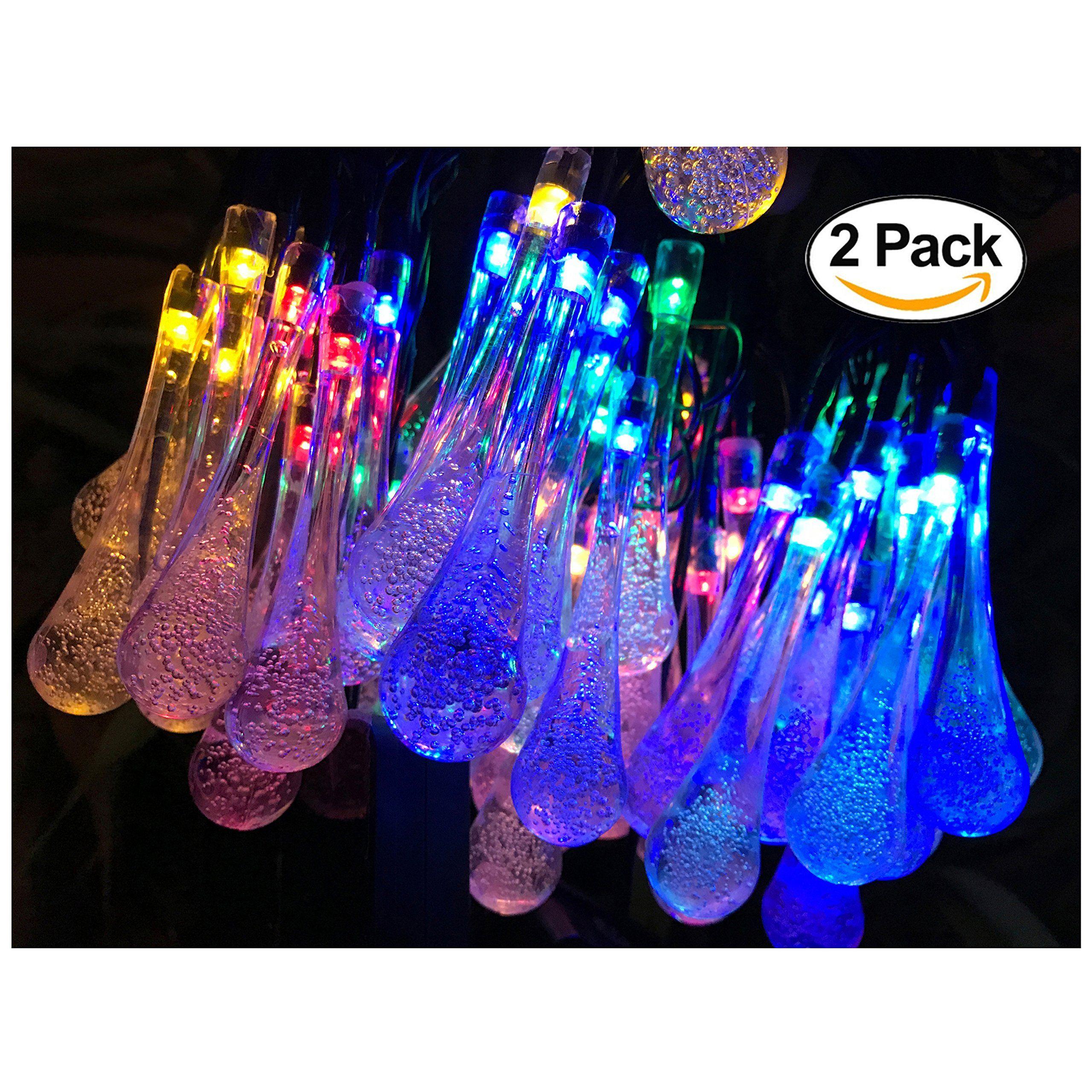 2 Pack Solar Strings Lights Lemontec 20 Feet 30 Led