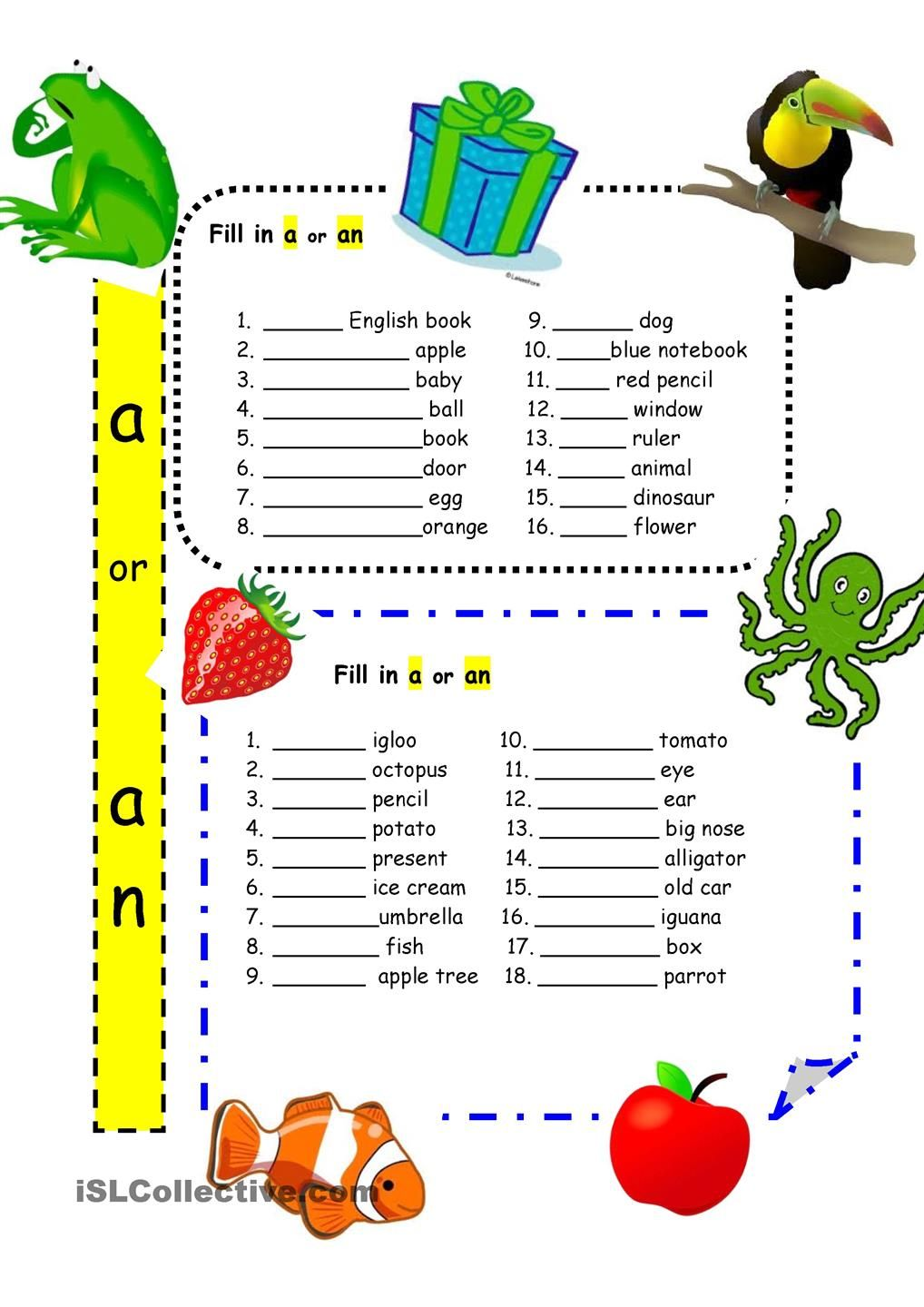 Worksheet A Or An Worksheets 17 images about articles gor on pinterest english grammar lessons and good grammar