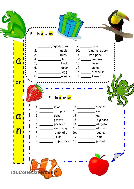 worksheet Articles Worksheet For Kids articles a and an for beginners og pinterest grammar or worksheet free esl printable worksheets made by teachers