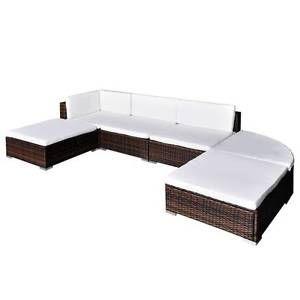 16 pcs Brown Poly Rattan Seat Set Garden Furniture(SKU41272) Mount Kuring-gai Hornsby Area Preview