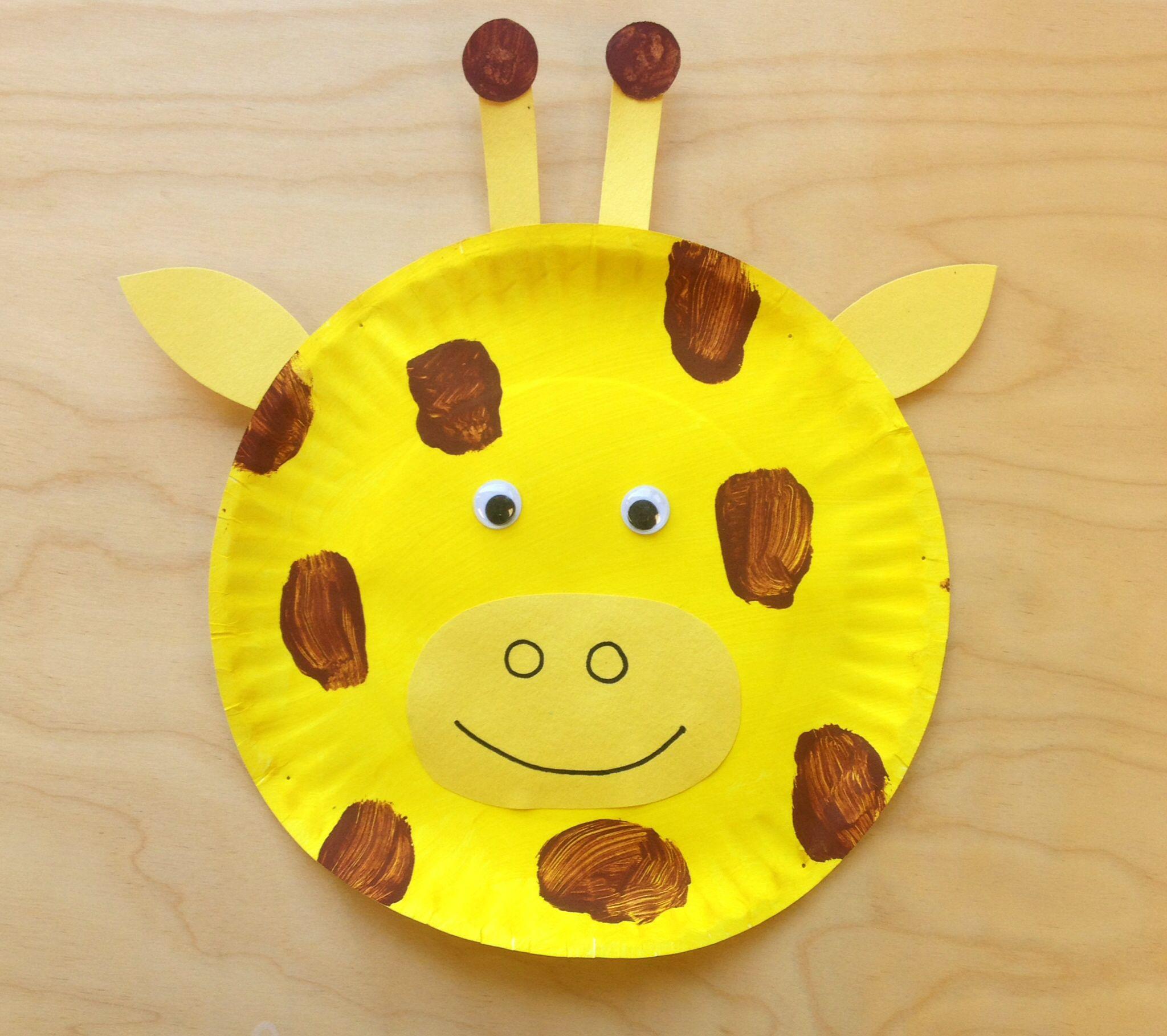 Paper plate giraffe & Paper plate giraffe   kids program   Pinterest   Giraffe and Crafts