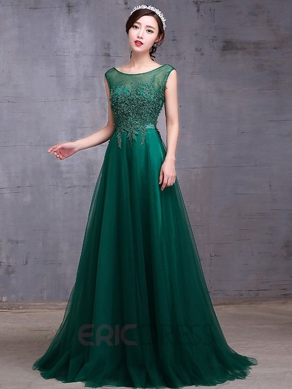 ericdress.com offers high quality  Ericdress A-Line Cap Sleeves Lace Evening…