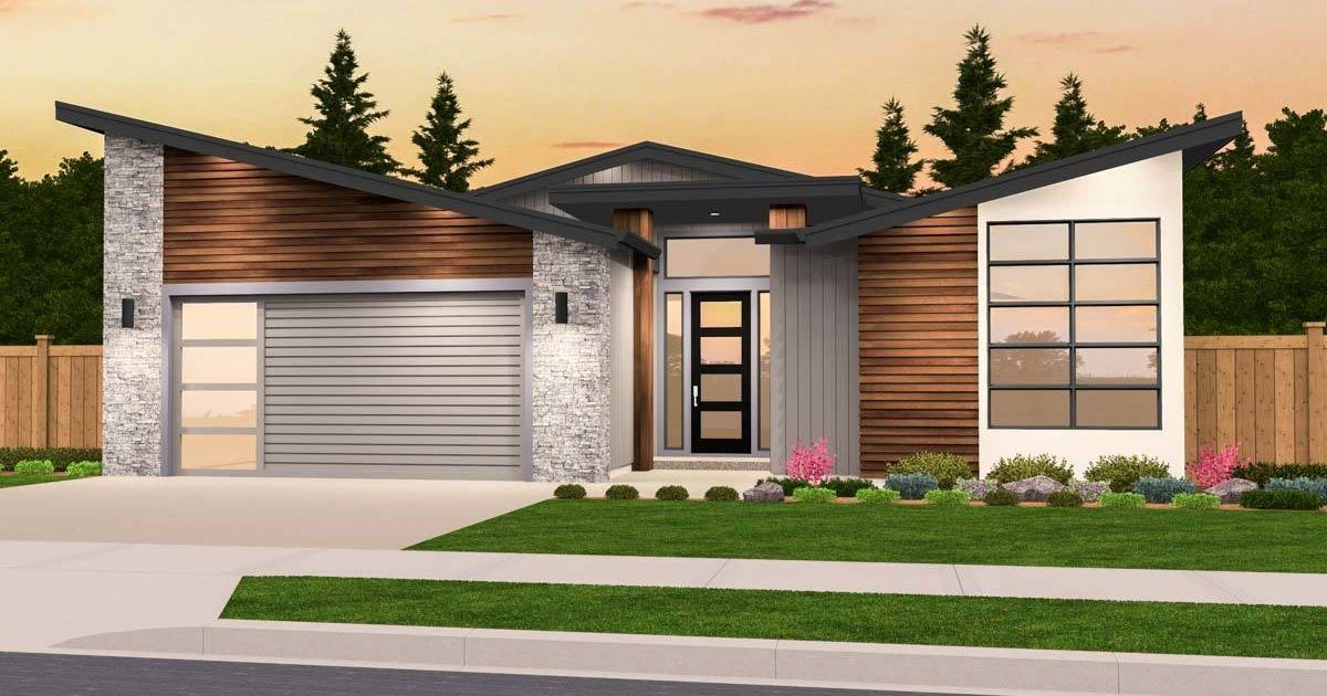 1 Level 2 Bedroom 2 Bath Modern House Plans The Best 2 Bedroom House Plans Find Small 2bed 2bath Designs Modern Open Floor Plans Ranch Homes With Garage Mor Di 2020
