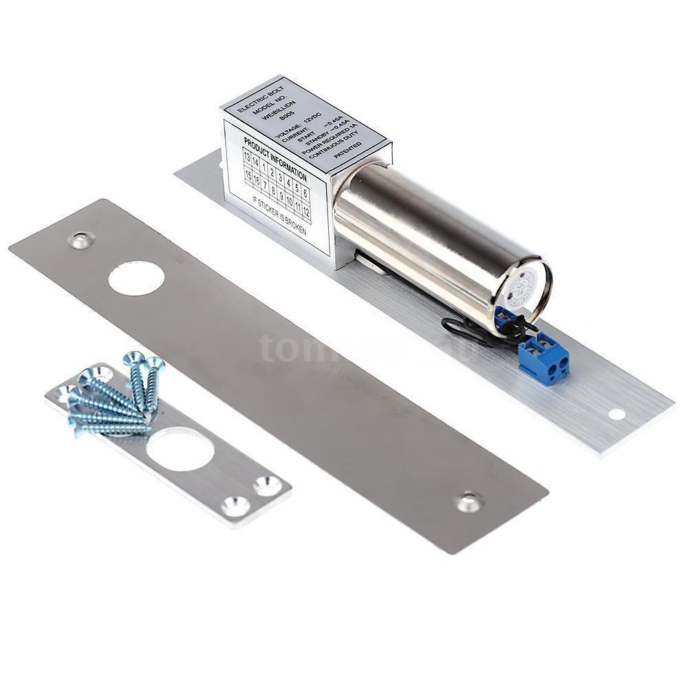 Magnetic Electric Drop Bolt Door Lock Auto Deadbolt Dc 12v For Access Control In 2020 Access Control Door Locks Door Clamp